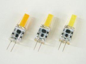 LED žárovka 3W G4 COB 12V (Barva světla Studená bílá)