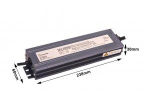LED zdroj (trafo) 24V 200W IP67