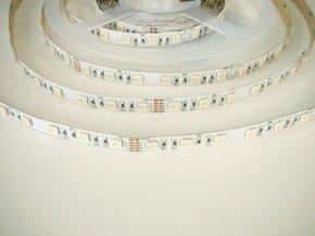 RGB LED pásik+studená biela 19,6W bez krytia 24V
