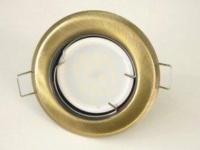 LED bodové světlo do sádrokartonu 3W matná mosaz 12V (Barva světla Studená bílá)