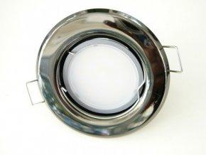 LED bodové světlo do sádrokartonu 5W grafitový chrom 12V (Barva světla Studená bílá)