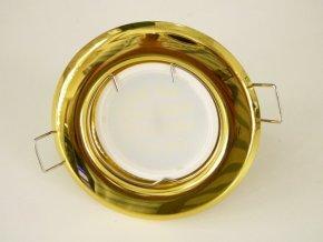 LED bodové světlo do sádrokartonu 5W zlatá 12V (Barva světla Studená bílá)