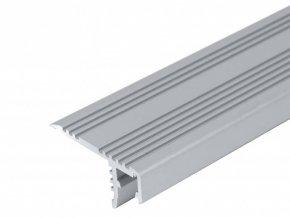 Hliníkový profil pro LED pásky schodišťový (Vyberte variantu a délku Profil + Nacvakávací opálový kryt 2m)