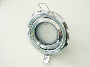 LED bodové světlo do sádrokartonu 5W chrom 230V výklopné (Barva světla Studená bílá)