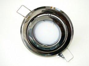 LED bodové světlo do sádrokartonu 3W grafitový chrom 12V výklopné (Barva světla Studená bílá)