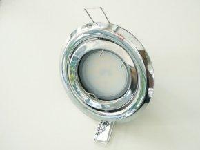 LED bodové světlo do sádrokartonu 5W chrom 12V výklopné (Barva světla Studená bílá)