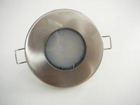 LED stropní svítidlo do koupelny IP44 5W 12V satén nikl (Barva světla Studená bílá)