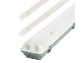 Zářivkové těleso 60cm + 2x LED trubice 10W Economy