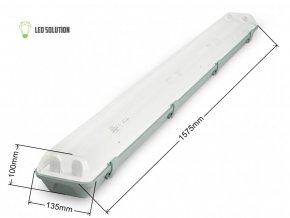 Žiarivkové teleso 150cm + 2x LED trubice 22W Economy+