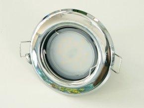 LED bodové světlo do sádrokartonu 3W chrom 12V (Barva světla Studená bílá)