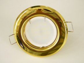 LED bodové světlo do sádrokartonu 3W zlatá 12V (Barva světla Studená bílá)