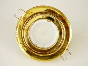 LED bodové světlo do sádrokartonu 3W zlatá 12V výklopné (Barva světla Studená bílá)