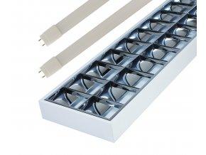 Prisadené žiarivkové svietidlo 120cm + 2x LED trubice 18W Economy+