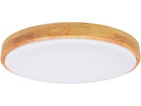 LED stropní svítidlo 80W se světlým dřevěným rámečkem