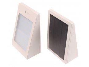 Solární fasádní svítidlo s pohybovým čidlem bílé