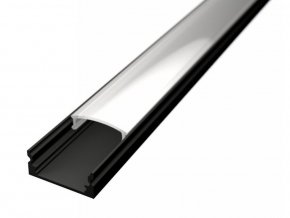 Nástenný profil pre LED pásiky N3 čierny