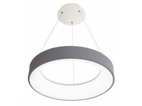 Šedé LED závesné svietidlo okrúhle 40W