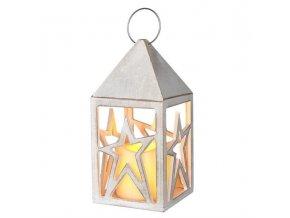 Drevená LED lampáš so sviečkou