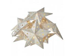 LED girlanda s motívom hviezd