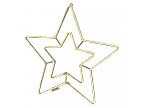 LED neónová dvojitá hviezda