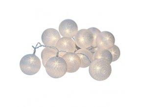 LED reťaz s motívom vianočných bavlnených ozdôb 3m