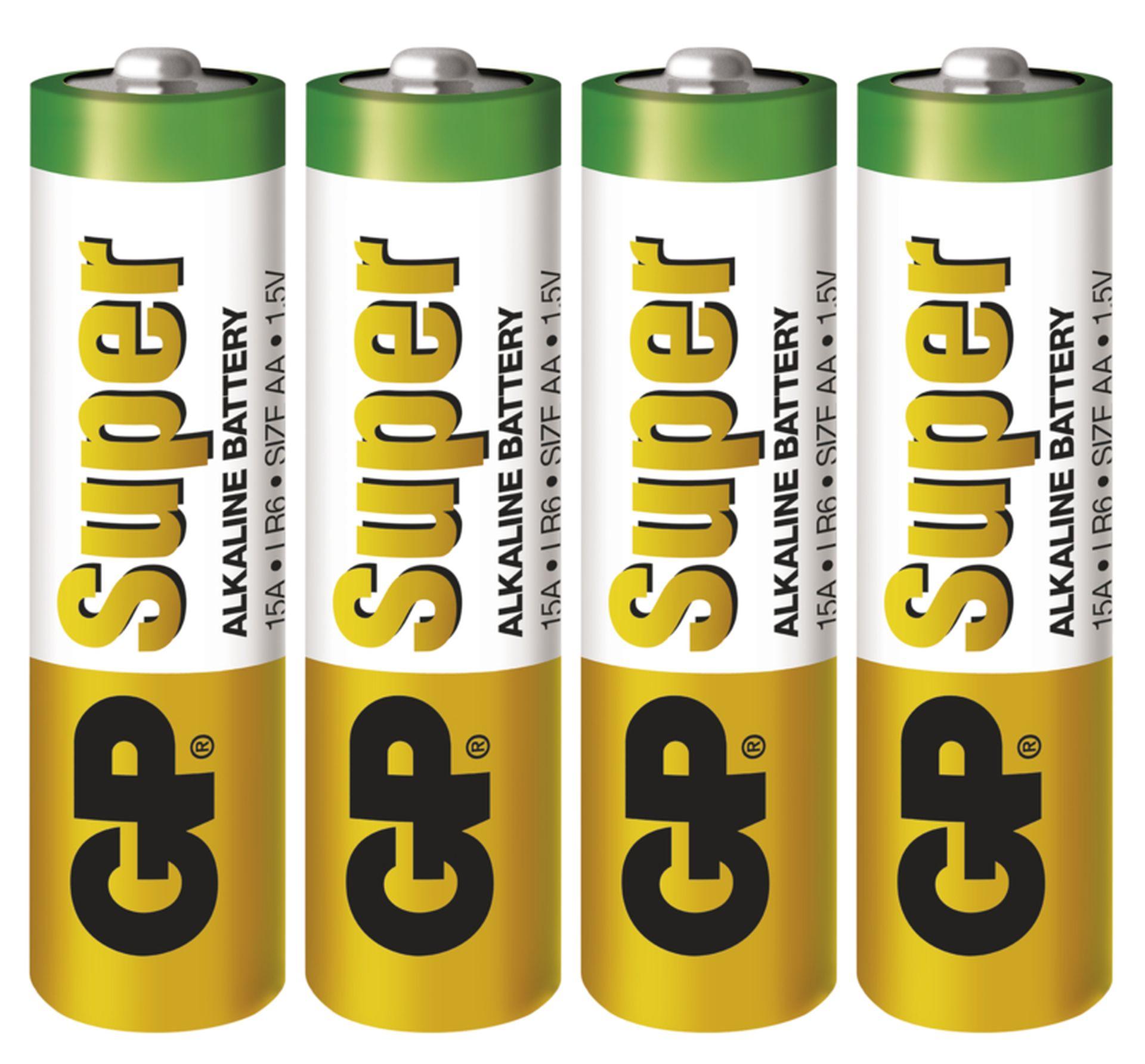 EMOS Alkalická batéria GP Super AA (LR6), 4ks B1321