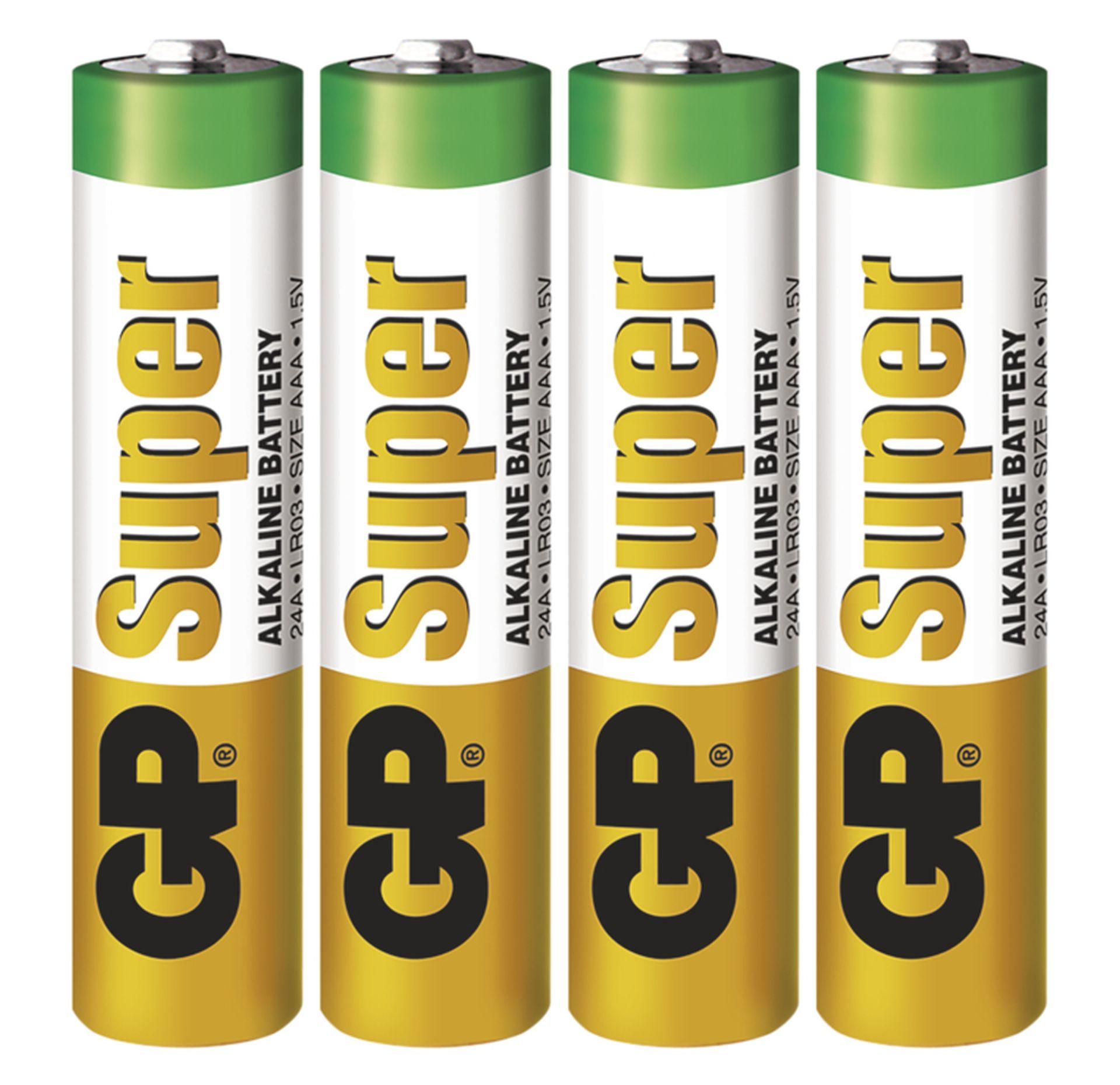EMOS Alkalická batéria GP Super AAA (LR03), 4ks B1311
