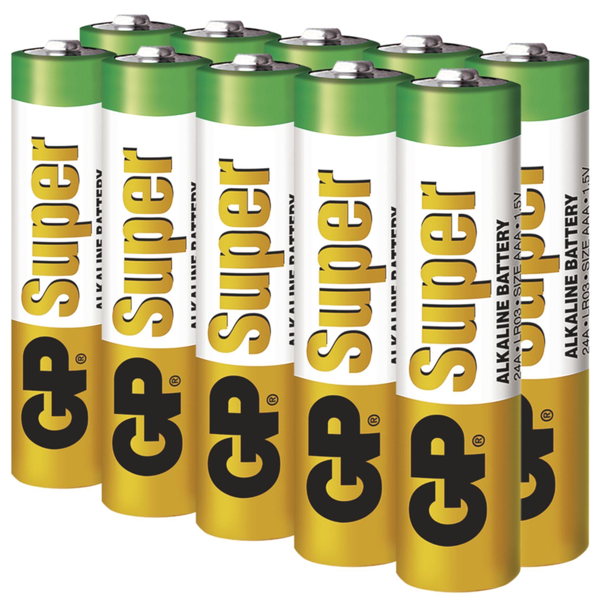 EMOS Alkalická batéria GP Super AAA (LR03), 10ks B1310G
