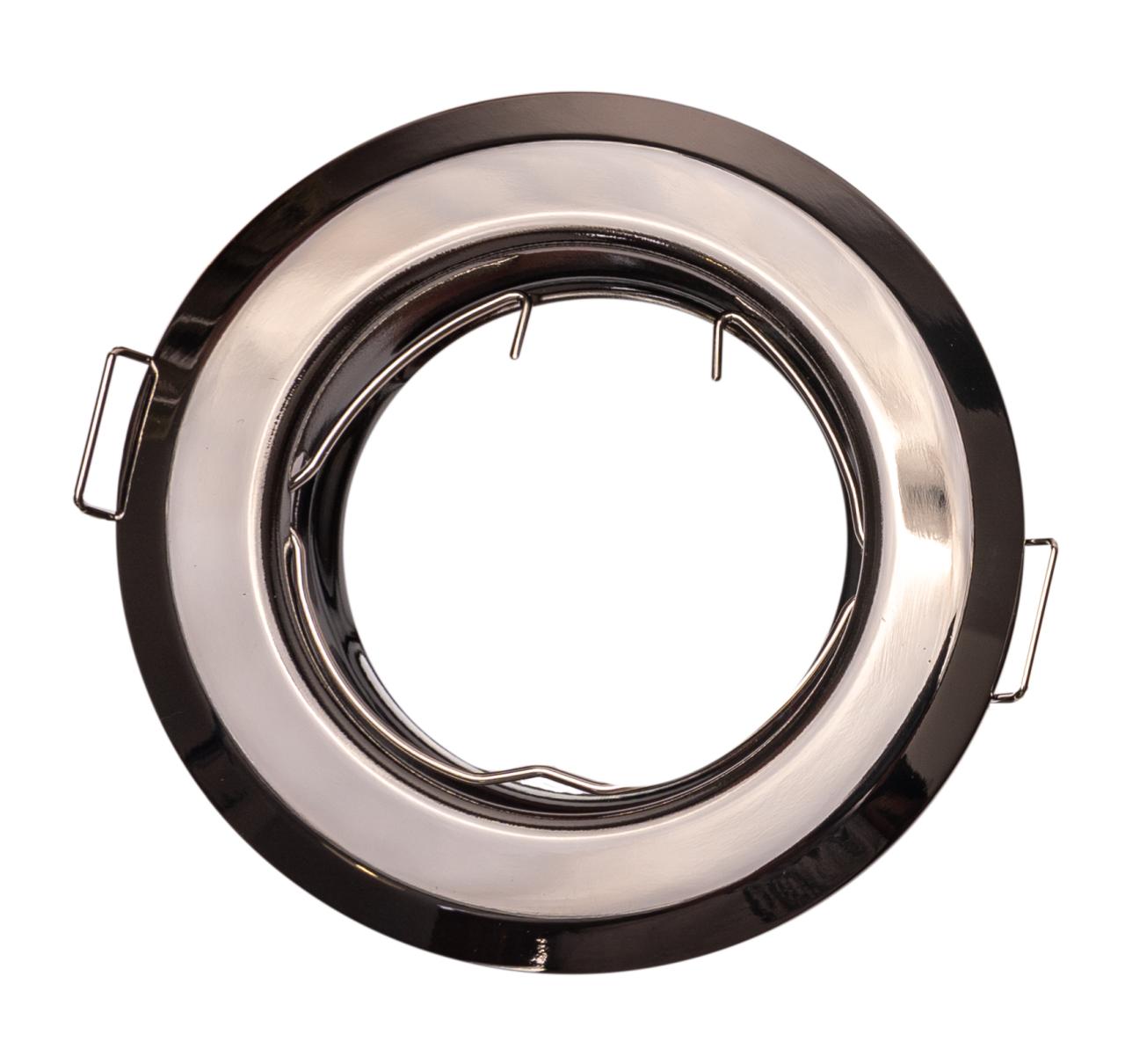 T-LED Podhľadový rámček grafitový chróm guľatý 10412