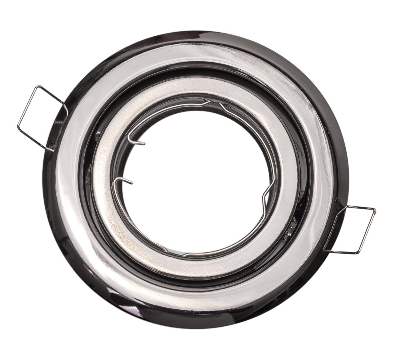 T-LED Podhľadový rámček grafitový chróm guľatý výklopný 10420