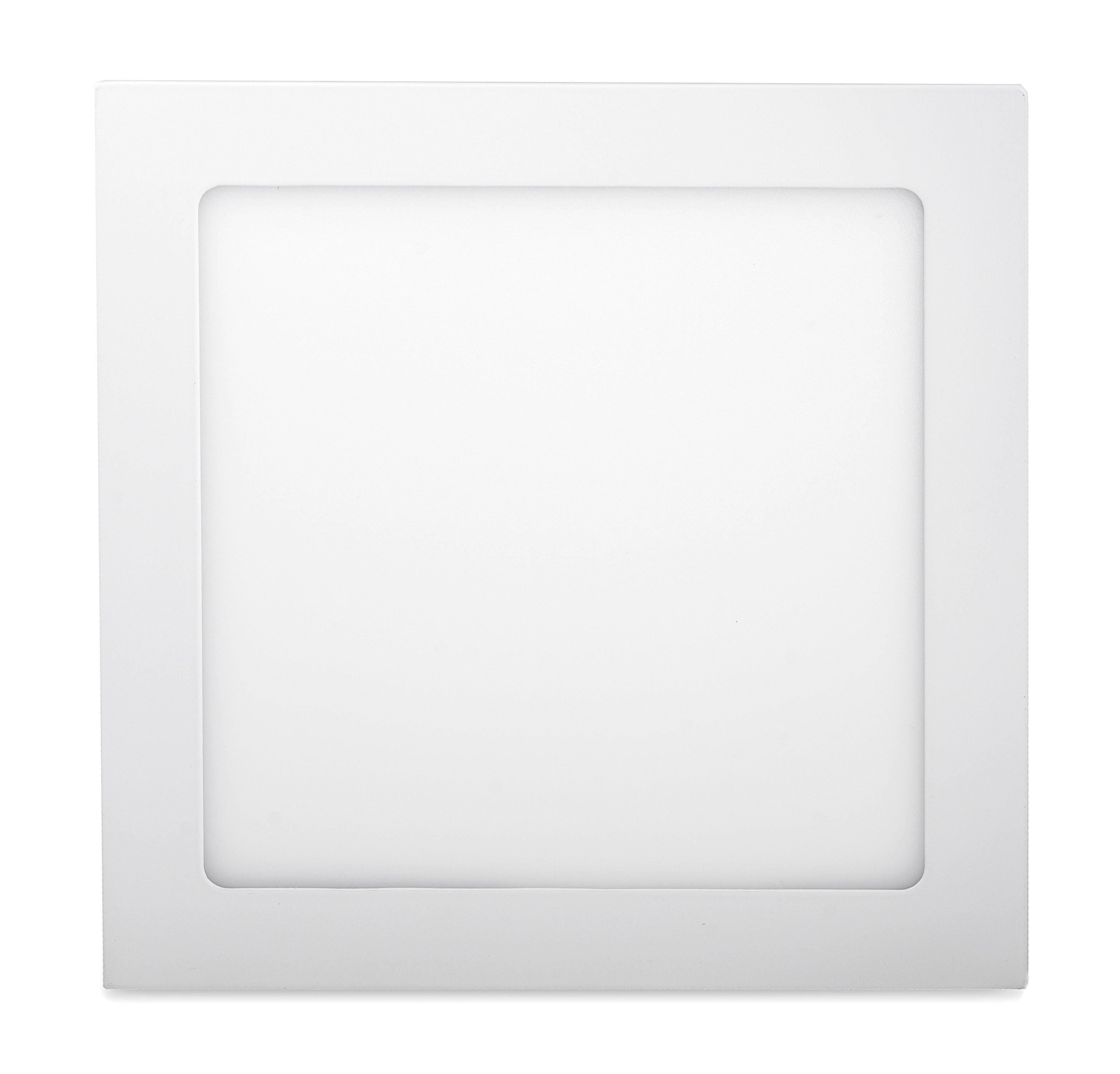 Ecolite Biely vstavaný LED panel hranatý 300 x 300mm 25W Farba svetla: Denná biela 102613