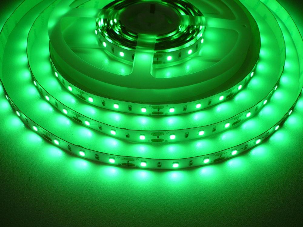 LED Solution LED pásik 12W/m 12V bez krytia IP20 Farba svetla: Zelená 07709