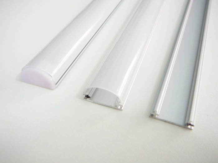 T-LED Hliníkový profil pre LED pásiky TUBE Vyberte variantu a délku: Profil bez difuzoru (krytu) 1m 09213