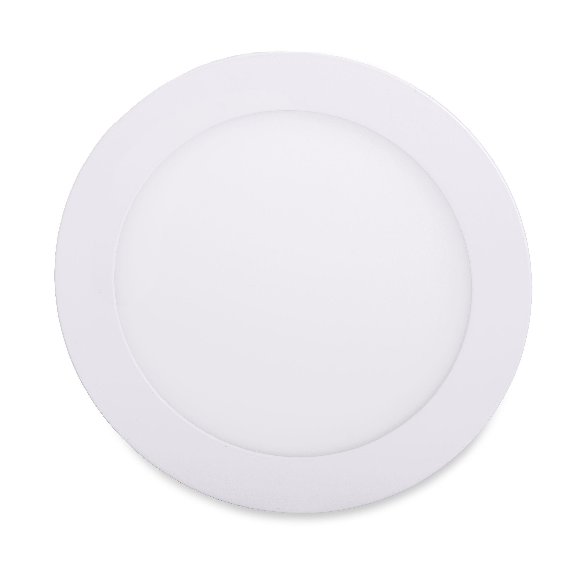 T-LED Biely vstavaný LED panel guľatý 120mm 6W stmievateľný Farba svetla: Teplá biela