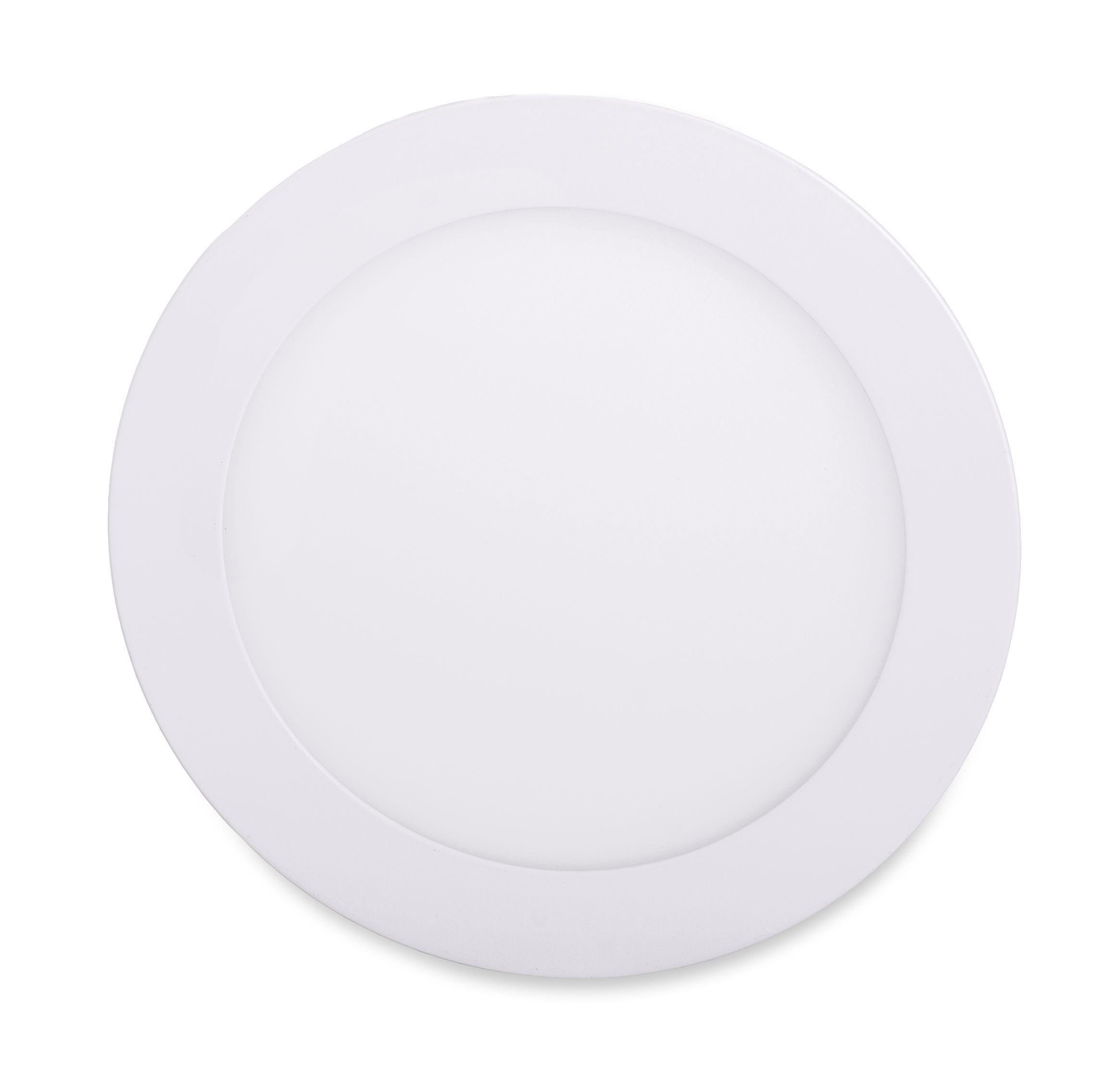 T-LED Biely vstavaný LED panel guľatý 171mm 12W stmievateľný Farba svetla: Teplá biela