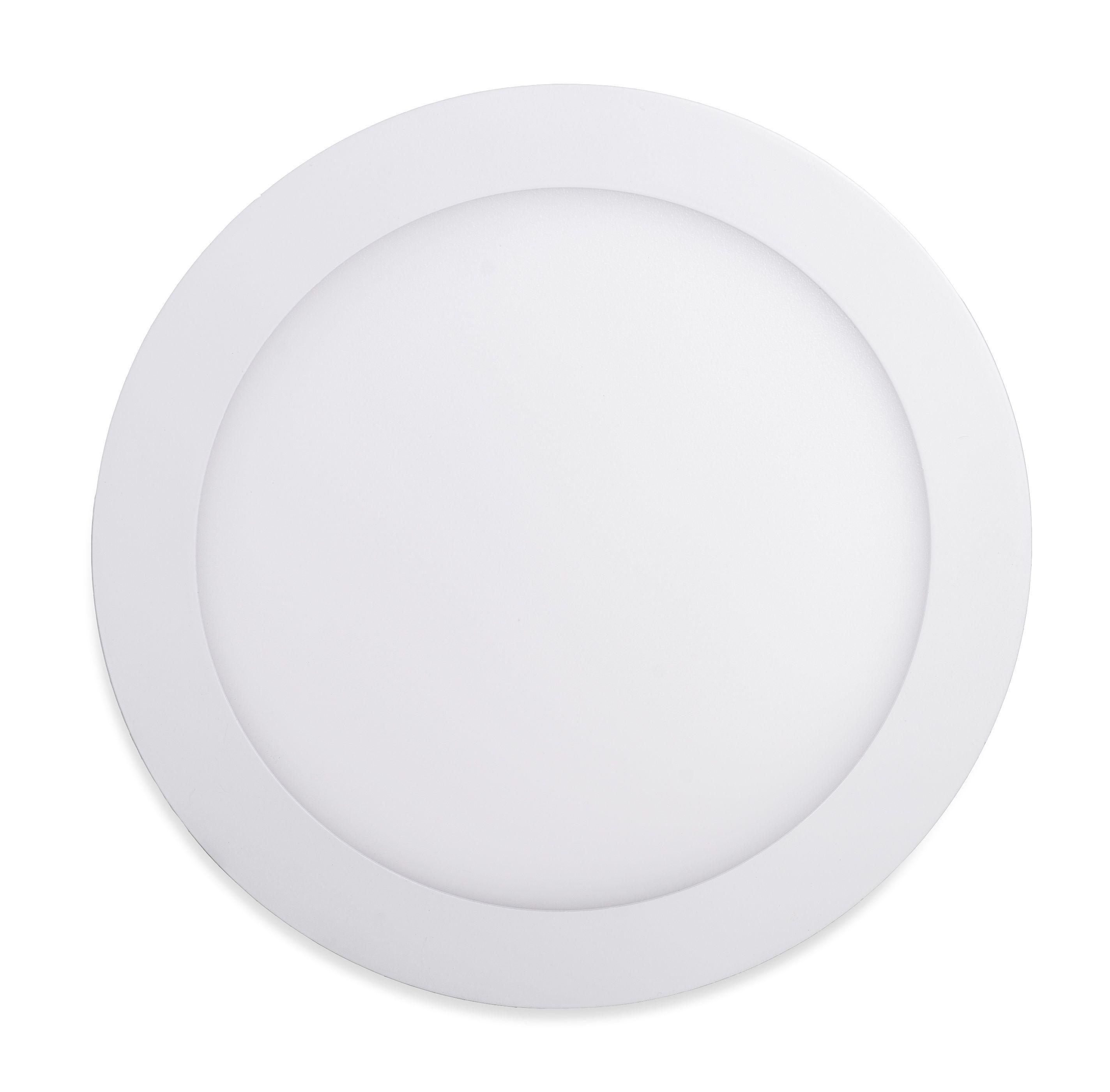 T-LED Biely vstavaný LED panel guľatý 225mm 18W stmievateľný Farba svetla: Teplá biela
