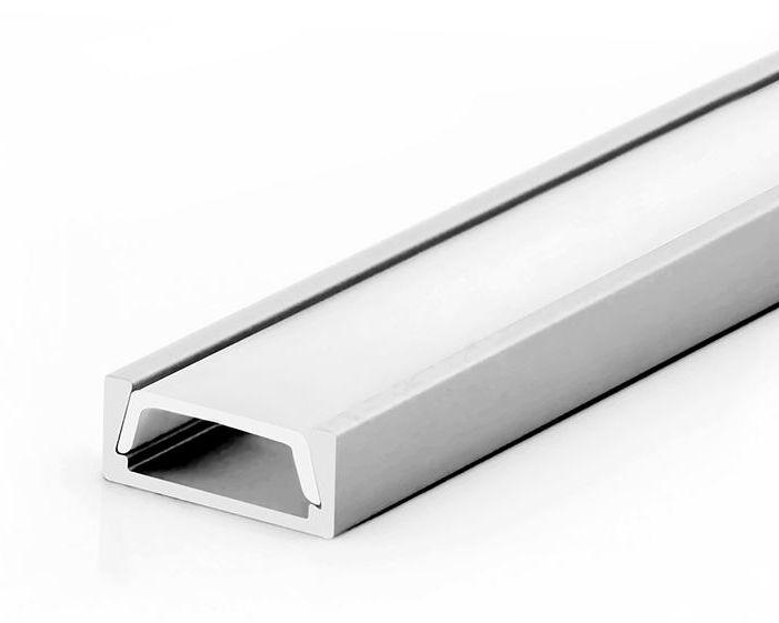T-LED Hliníkový profil pre LED pásiky Mikro Vyberte variantu a délku: Profil + Násuvný čirý kryt 1m