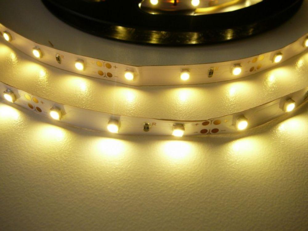 T-LED LED pásik 4,8W/m 12V bez krytia IP20 Economy Farba svetla: Teplá biela 07146