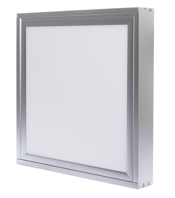 LED Solution Strieborný prisadený LED panel s rámčekom 300 x 300mm 18W Premium Farba svetla: Teplá biela 784