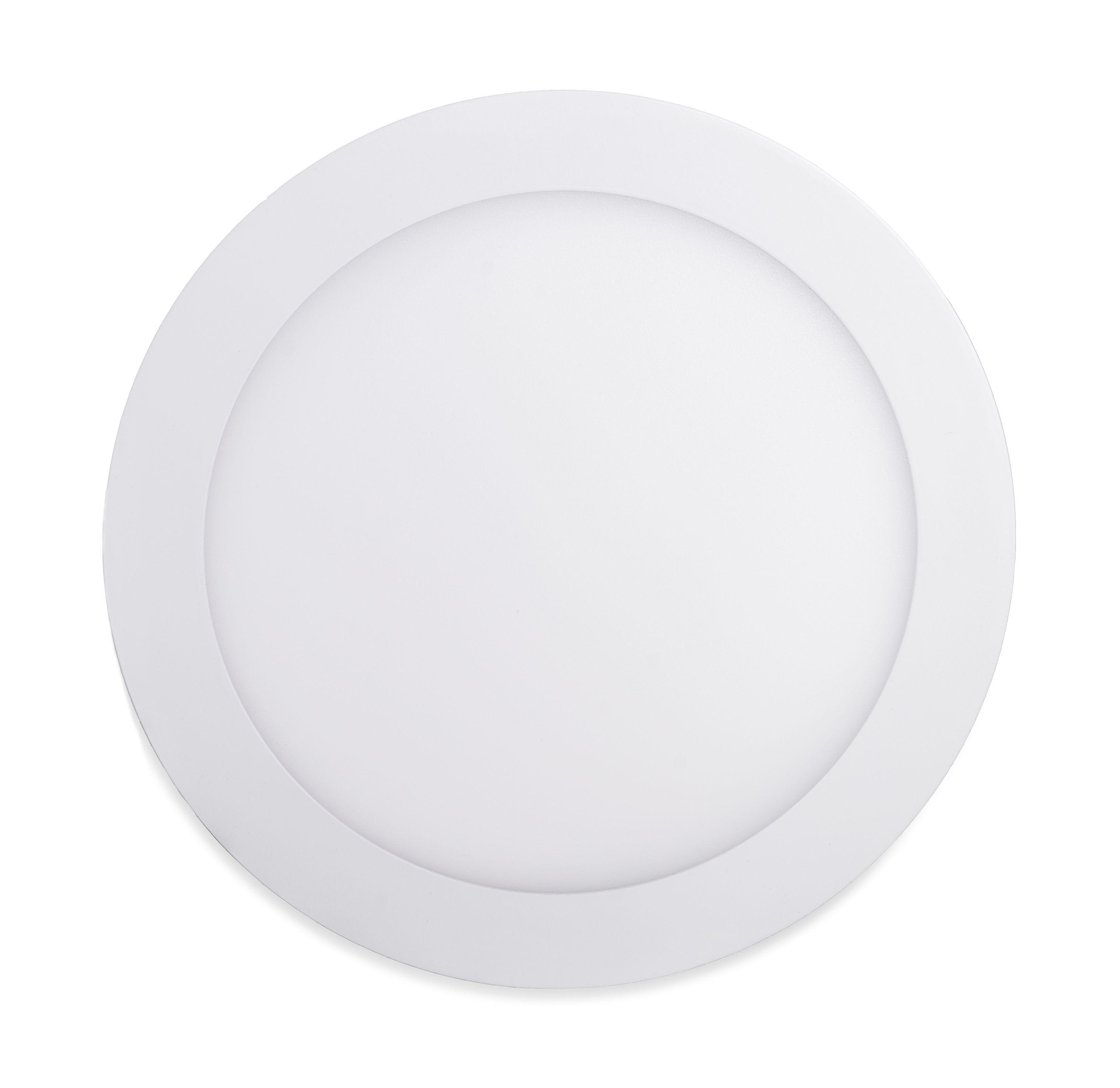 Ecolite Biely vstavaný LED panel guľatý 120mm 6W Farba svetla: Studená biela 10264