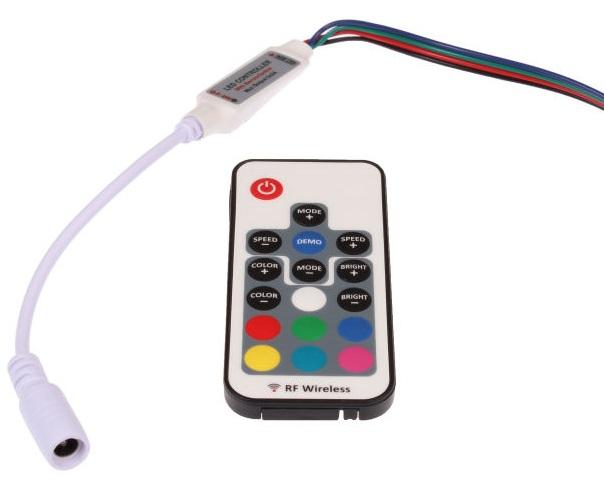 T-LED RGB mini RF ovládač 063322