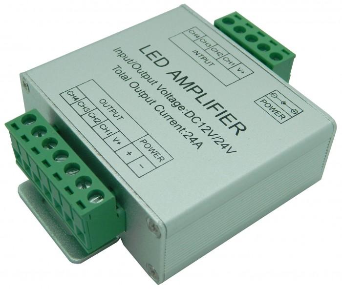 T-LED Zosilňovač RGBW signálu AMP6 06609