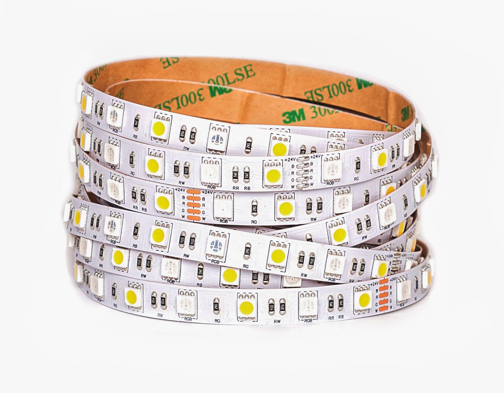 LED Solution RGBW LED pásek 14,4W/m 24V bez krytí Farba svetla: RGB + teplá biela 085131