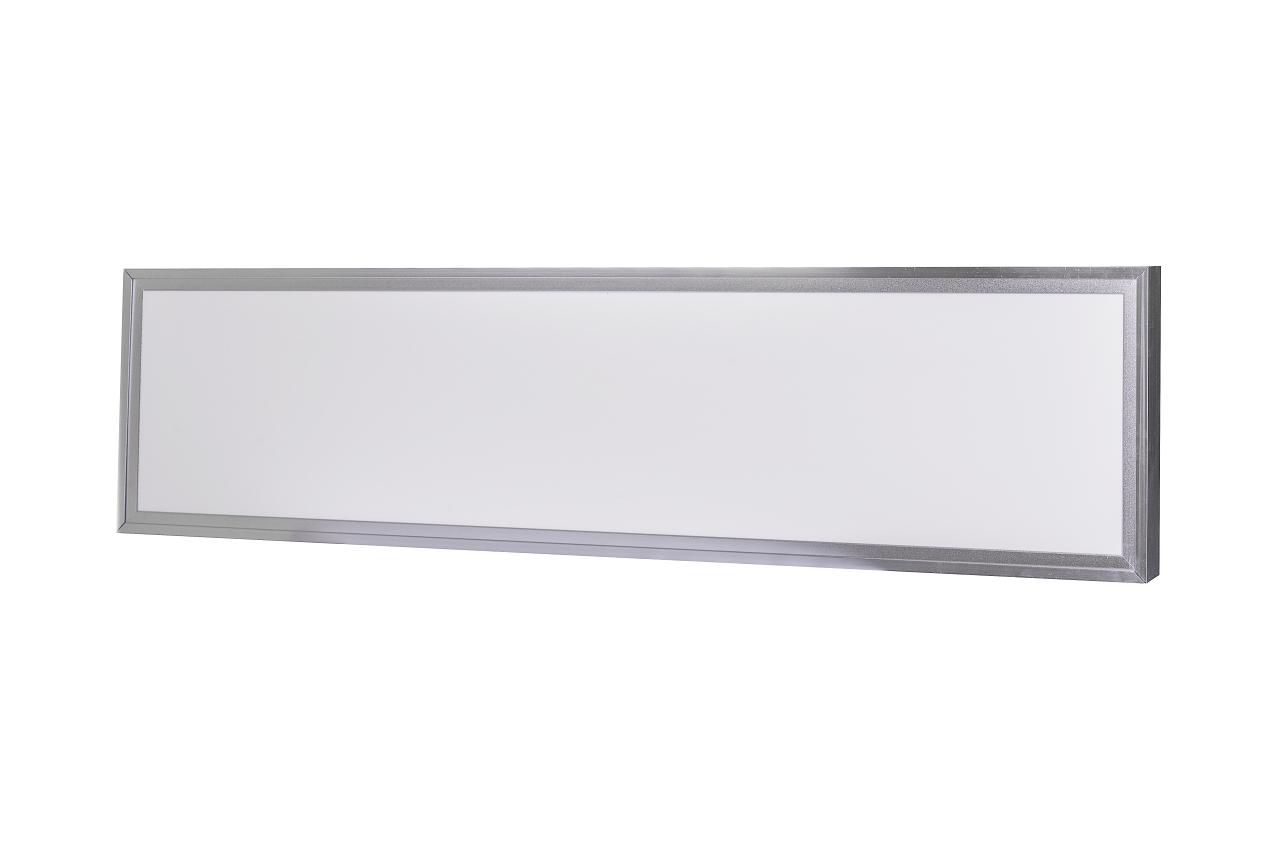 Ecolite Strieborný prisadený LED panel s rámčekom 300 x 1200mm 45W LED-GPL44/B-45_LED-GPL44-RAM/B