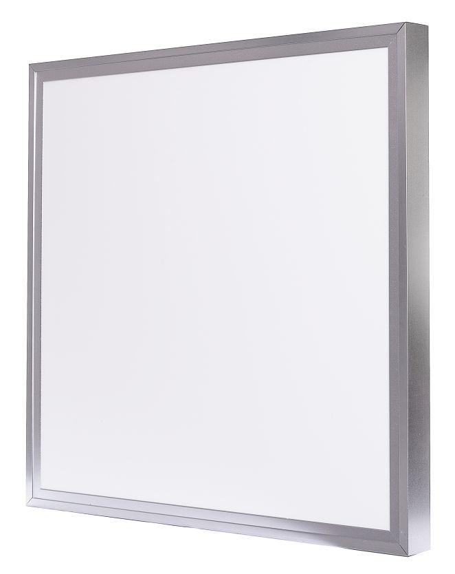 LED Solution Strieborný prisadený LED panel 600 x 600mm 40W Premium stmievateľný s DO Farba svetla: Teplá biela
