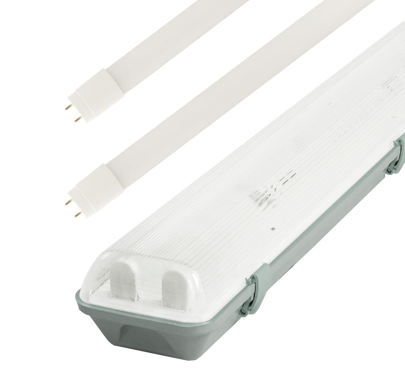 LED Solution Žiarivkové teleso 150cm + 2x LED trubice 22W Economy Barva světla: Denná biela TL3903A-2X58/B/1_6309