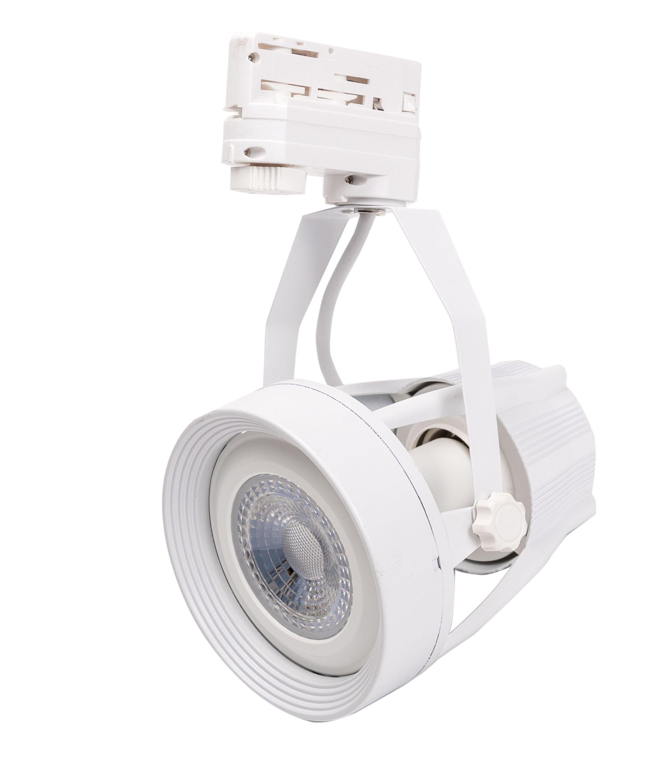 LED Solution Biele lištové svietidlo 3F + LED žiarovka 11W Farba svetla: Teplá biela 105602_153