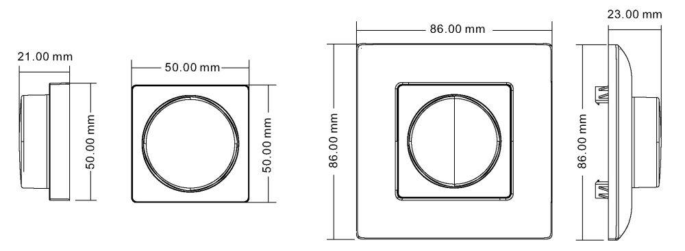 T-LED Ovládač dimLED nástenný 1-kanálový 069103