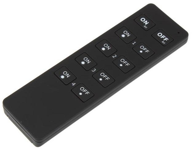 T-LED Diaľkový Ovládač dimLED čierny kanály: 4 Kanály 069105