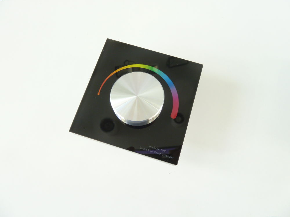 T-LED Nástenný Ovládač dimLED RGB Farba:: čierna 069207